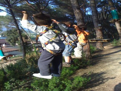 Treetop course in Girona for children