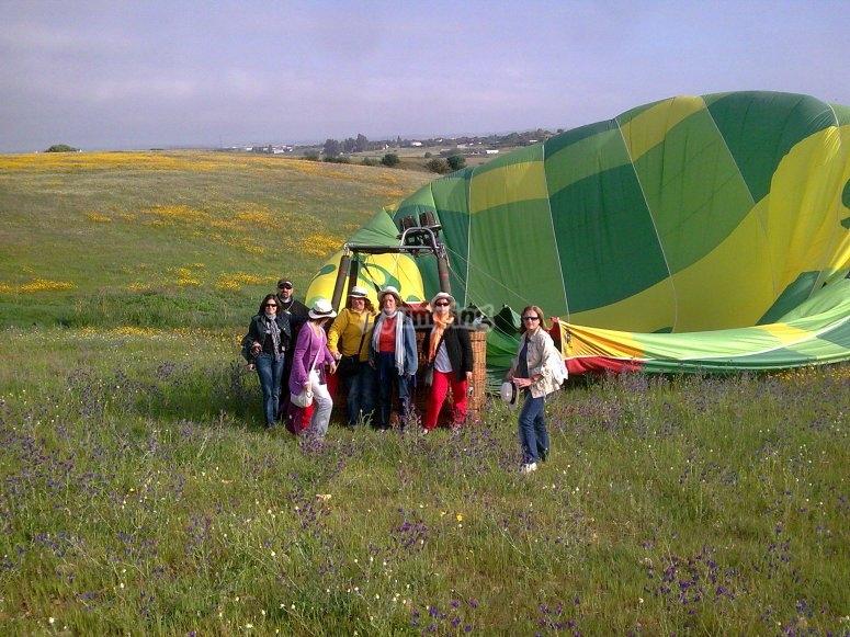 Balloon shadow in the fields