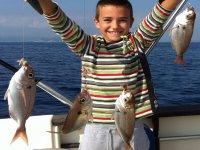 Pesca a fondo desde barco en Blanes, 4 horas