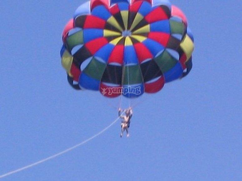 Volando en parascending