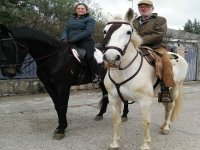 A caballo listos para la ruta