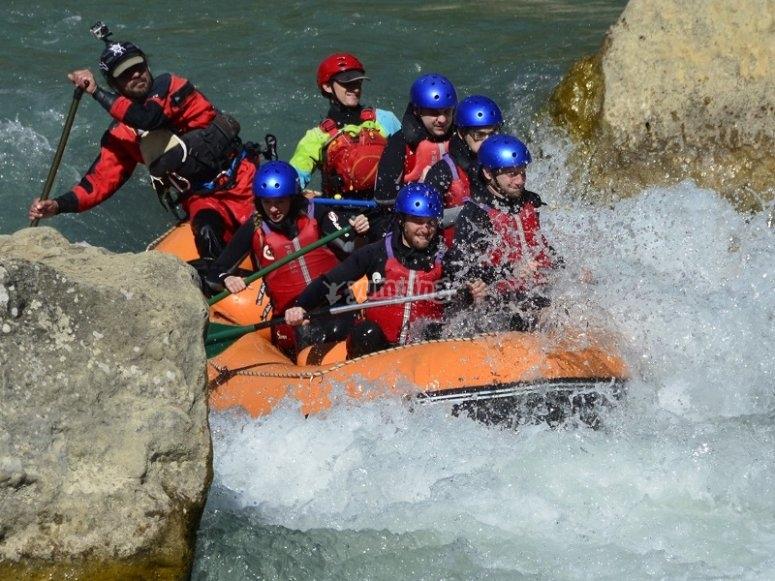 Rafting in rough waters Gallego river