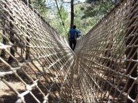 Cruzando la red del circuito de aventura