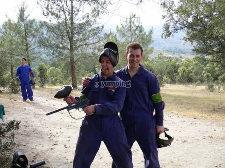 Excited to play paintball