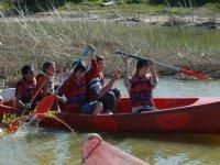 Percorso in canoa alla foce dell'Ebro, bambini
