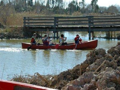 Percorso in canoa attraverso Miravet e Benifallet, bambini