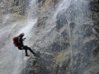 Rappelling in ravines