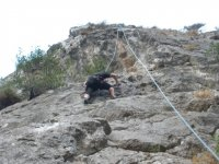 Practice climbing in Mallorca