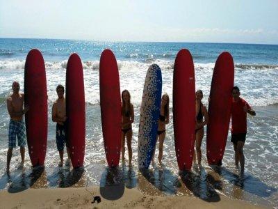 Corso di surf a Puerto de Mazarrón, 2h iniziazione