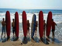 Clase de surf en Puerto de Mazarrón, iniciación 2h