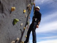 Hold onto the climbing wall