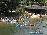 Descenso del río Sella en canoa y pícnic niños