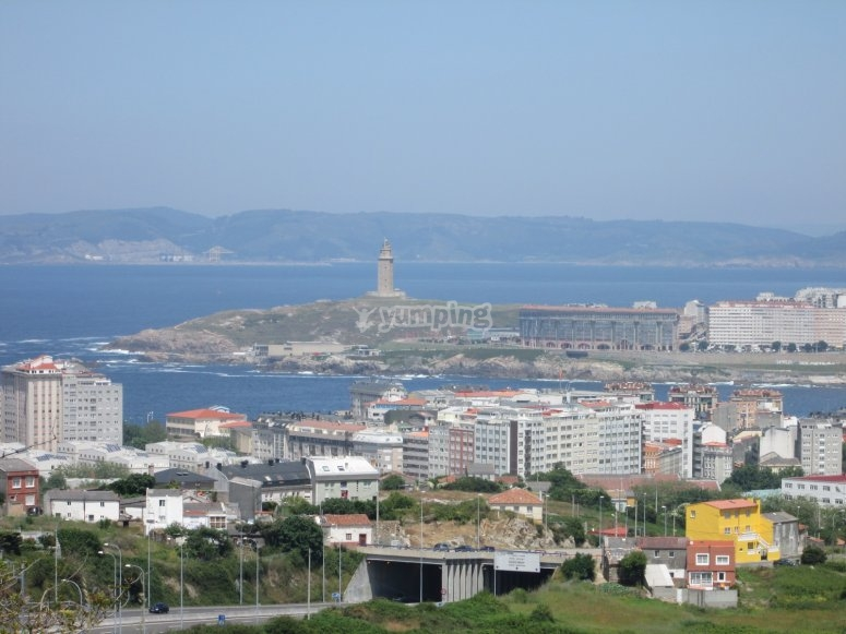 Panoramic of the Galician city