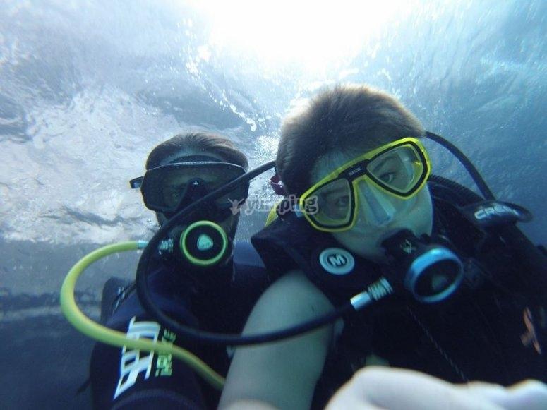 Selfie submarino
