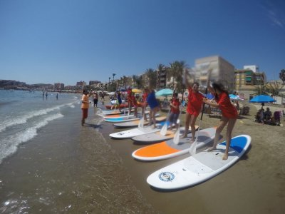 Alquiler material paddle surf Puerto Mazarrón 1h