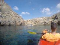 Iniciación más Ruta en kayak en Puerto de Mazarrón