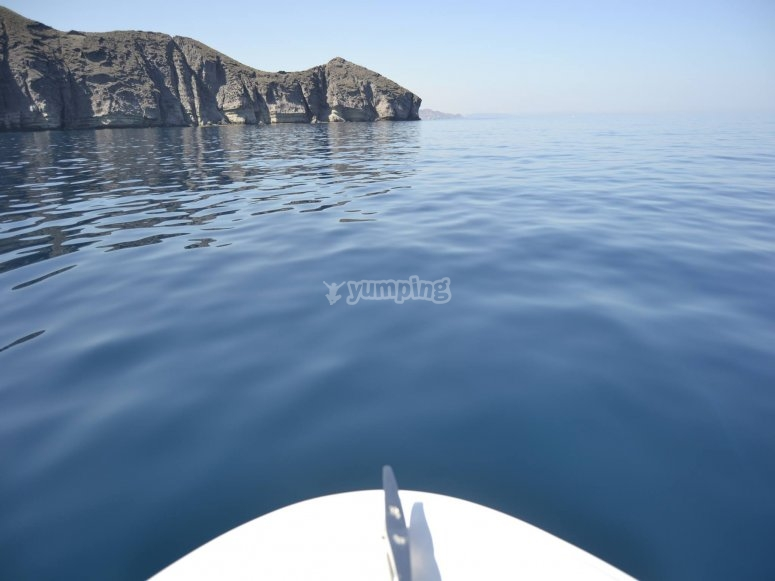 Visit the coves in Cabo de Gata on a boat