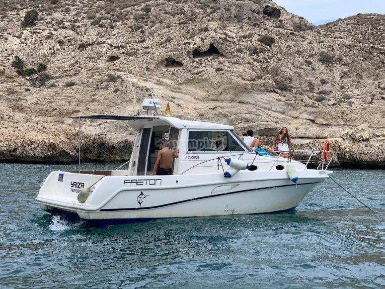 Yacht trip from Agua Amarga beach