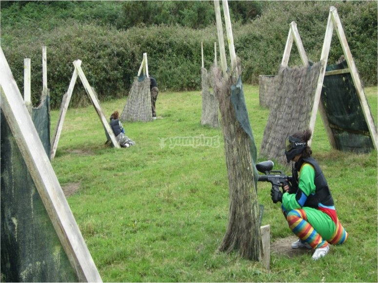 """Paintball infantil en Amorebieta, con 146 bolas"""