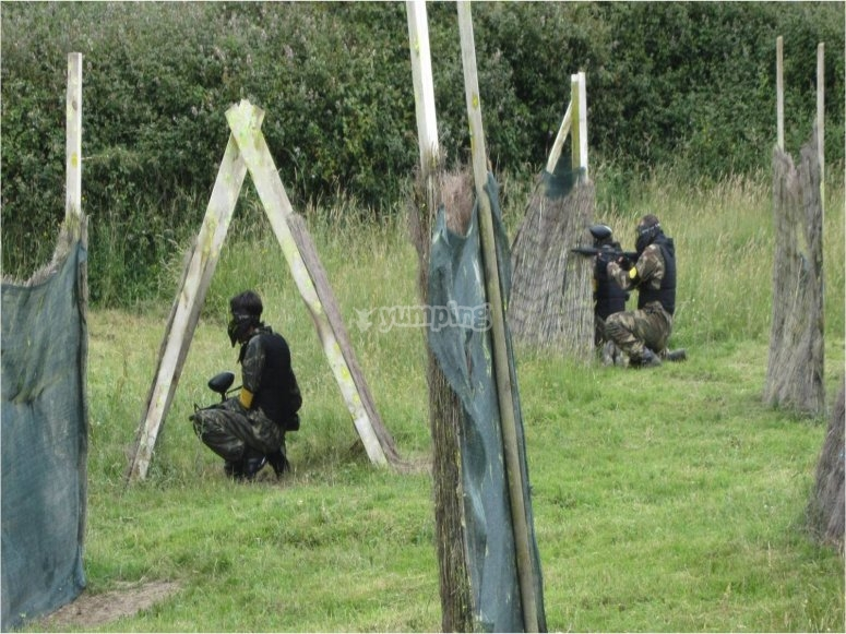 Posiciones estrategicas en paintball