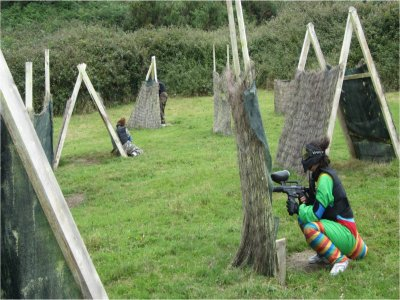 Paintball infantil en Amorebieta, con 146 bolas