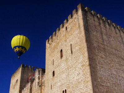 Ride on a balloon, Burgos. Meal, toast and Photos