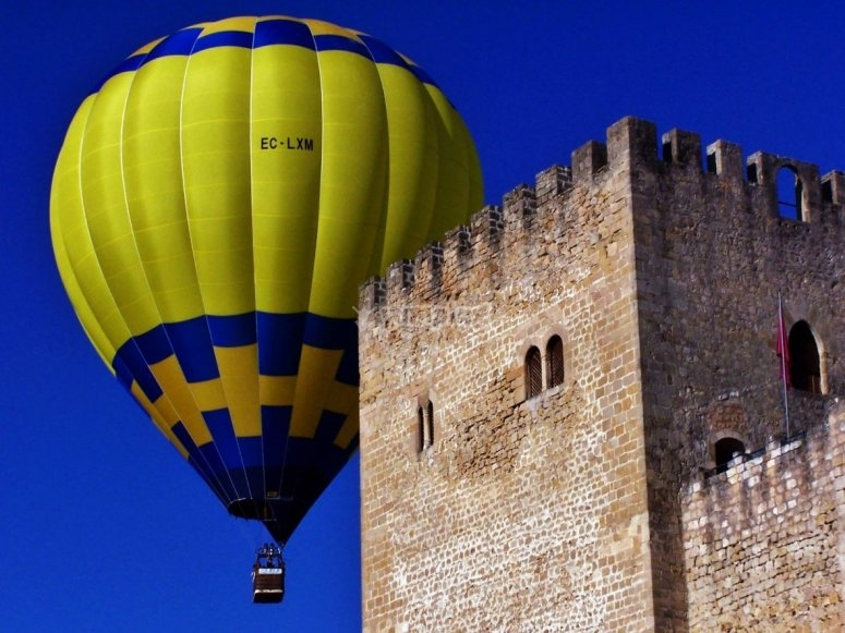 Balloon next to the tower