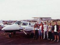 Group of adventurers before departure
