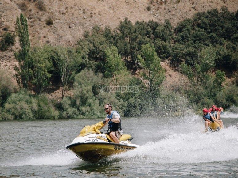 Experiencia en banana boat San Rafael