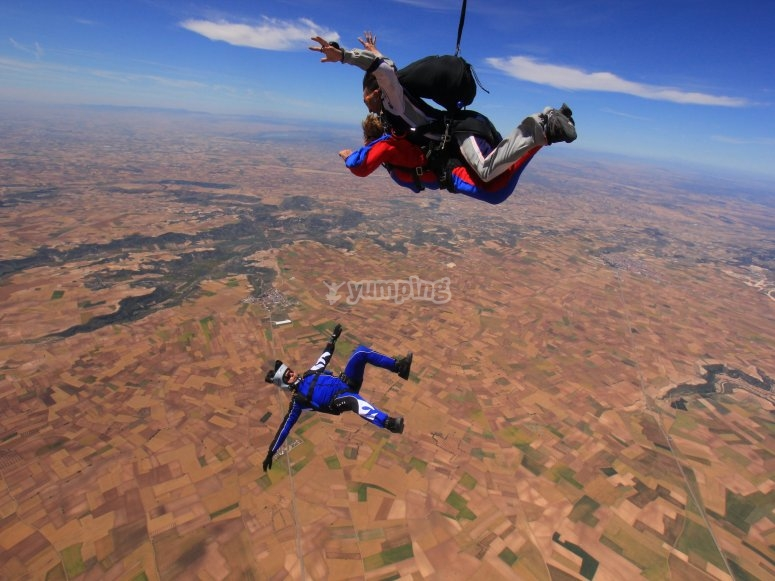 情侣降落伞体验