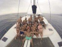 Salida con amigos en barco