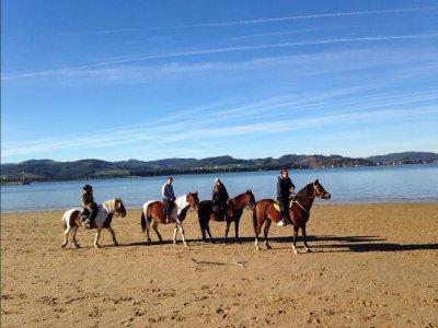 1h 20min riding a horse in Laredo beach, Cantabria