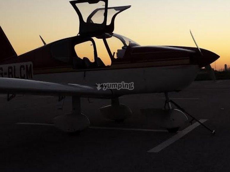 nuestra avioneta.