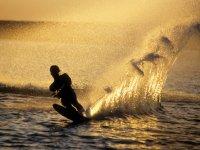 Water skiing in Tarragona