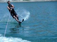 Enjoy water skiing