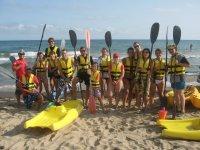 Kayak con los nuevos palistas