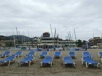 Tumbonas en la arena