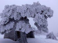 Refugio nevado en Covaleda