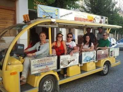 Paseo en Priego de Córdoba bus turístico eléctrico