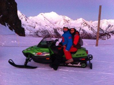Motoslitta in tandem nei 30 minuti di Ordino-Arcal