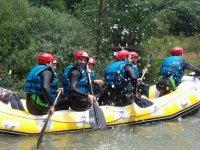 Diversión en el rafting