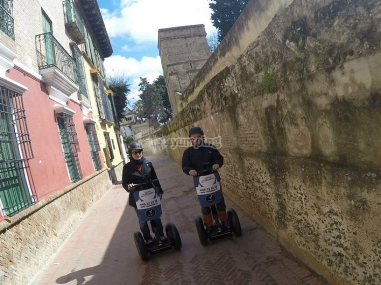 Seville on a segway