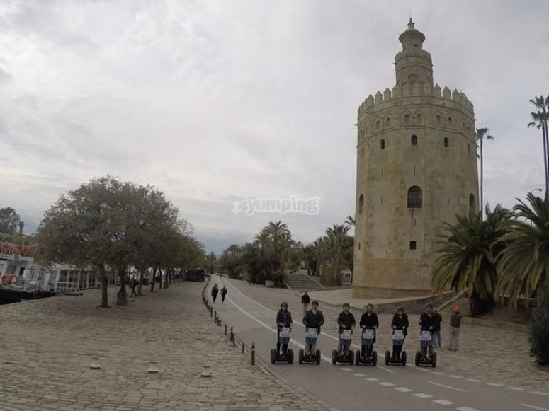 Segways by the Torre del Oro