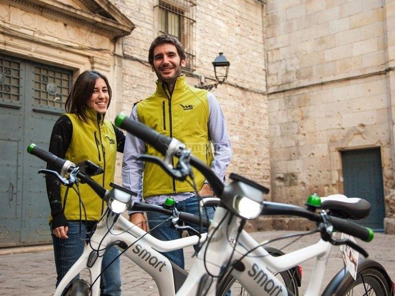 Guias del tour en bici electrica