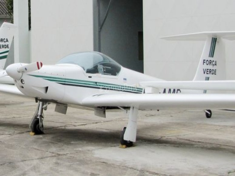 aeronave al aire libre.