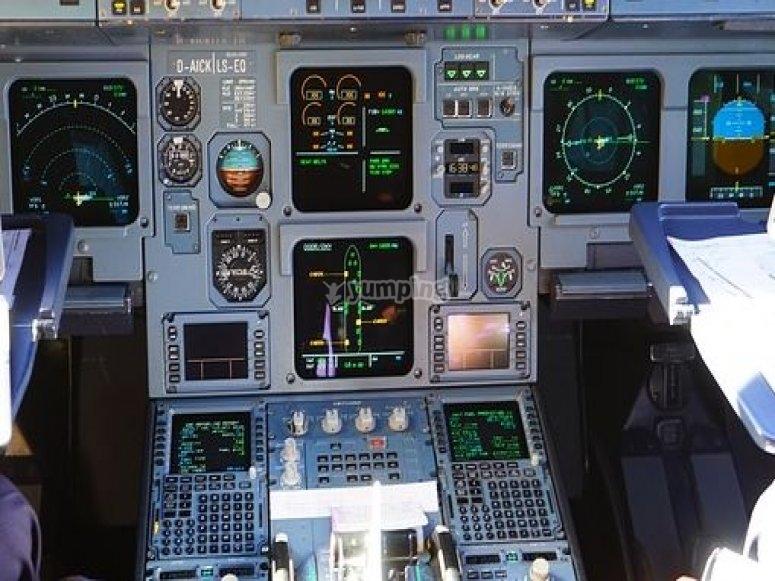 mandos aeronave.