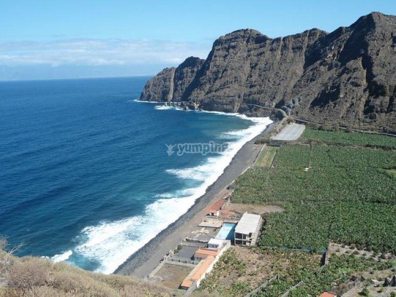 paisaje hermoso de Tenerife.