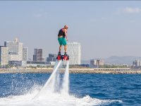 Rising with the flyboard
