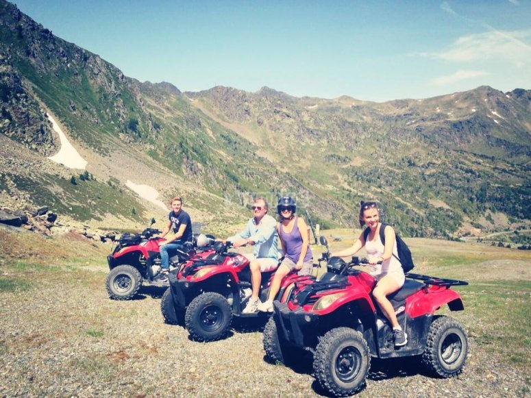 ATVs beside the mountain
