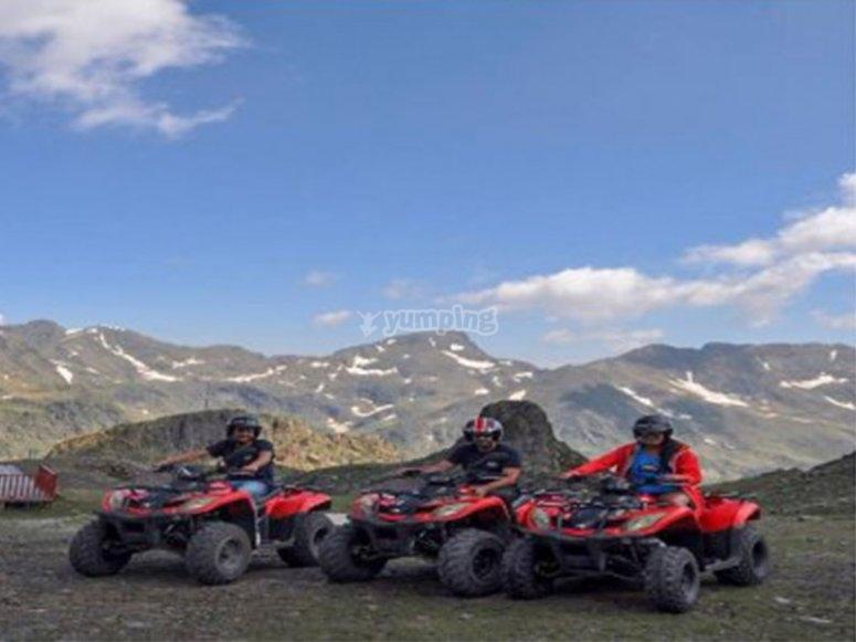 Listos para nuestra aventura en quad